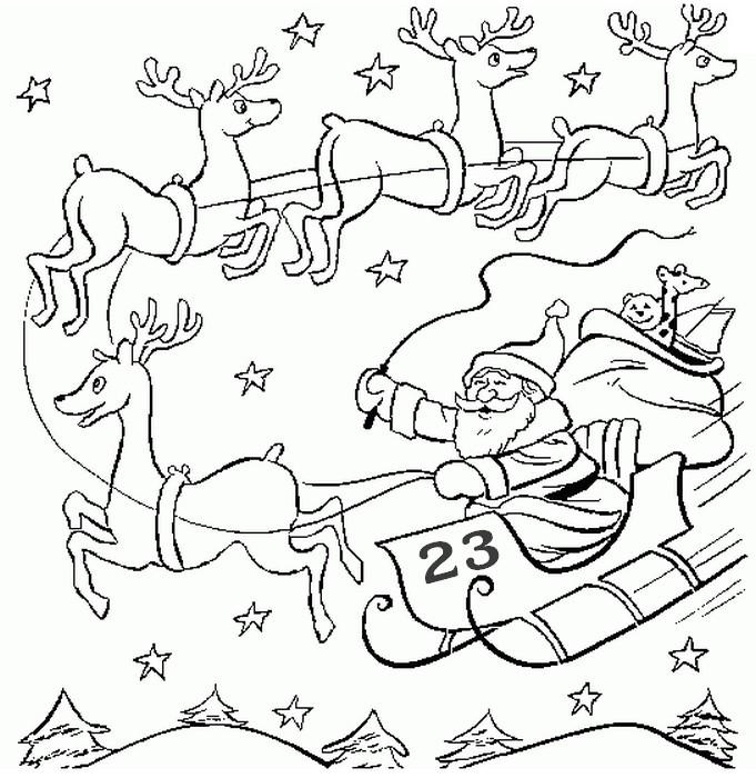 Ausmalen Erwachsene Adventszeit-Kalender : Am 23. Dezember 27
