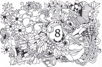 Art Therapy coloring page December 8th