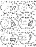 Art Therapy coloring page From 7 till 12 December