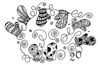 Art Therapy coloring page December 20th