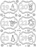 Art Therapy coloring page From 19 till 24 December