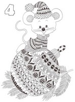 Art Therapy coloring page December 4th