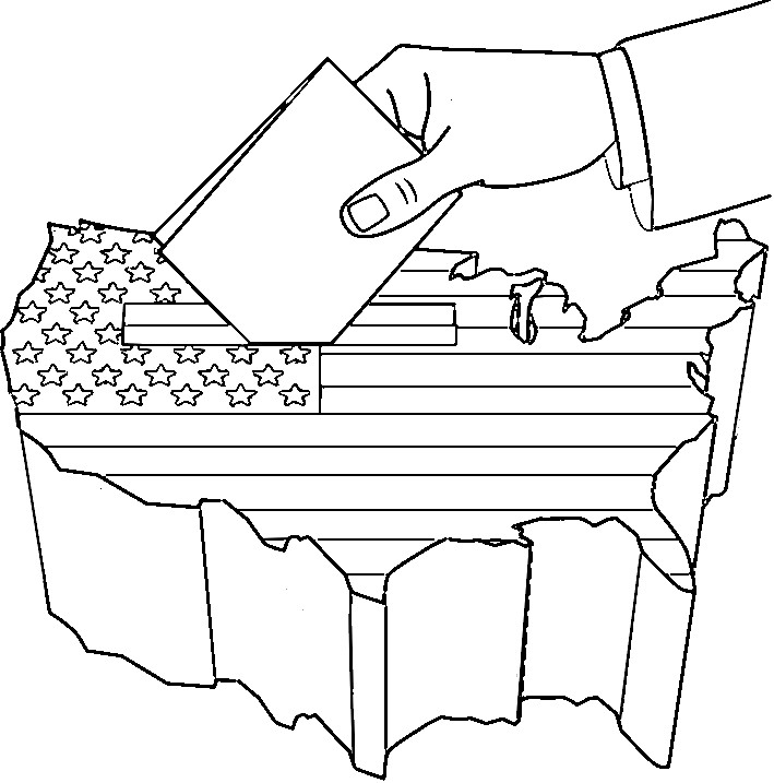 coloring pages vote - photo#26