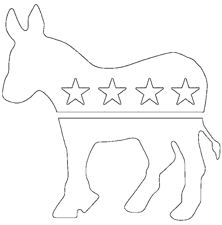 coloring pages for democratic party - photo#13