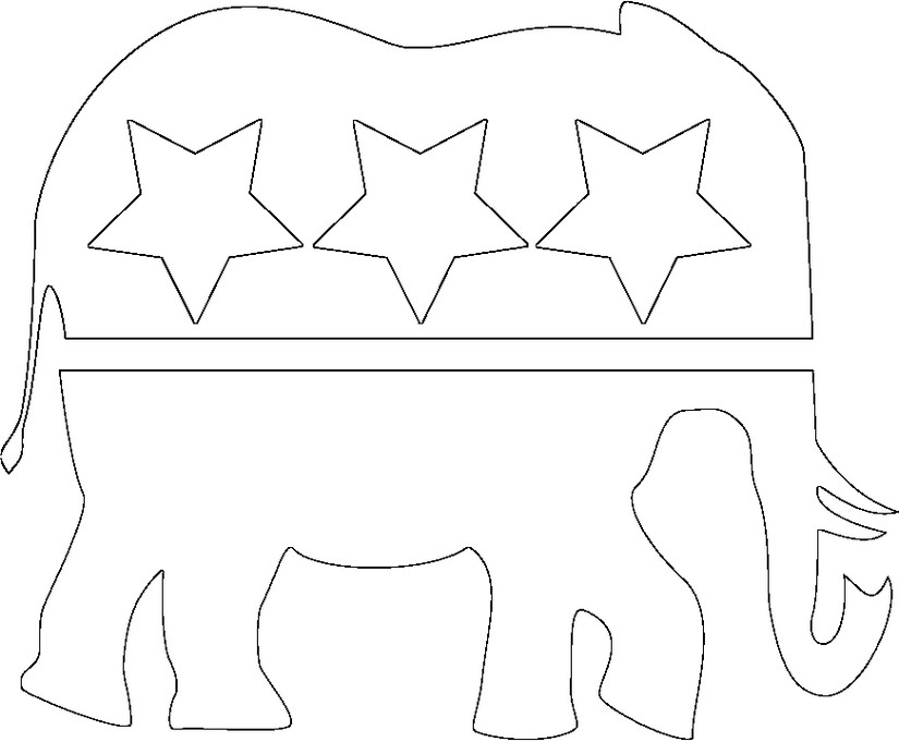 coloring pages election day - photo#12