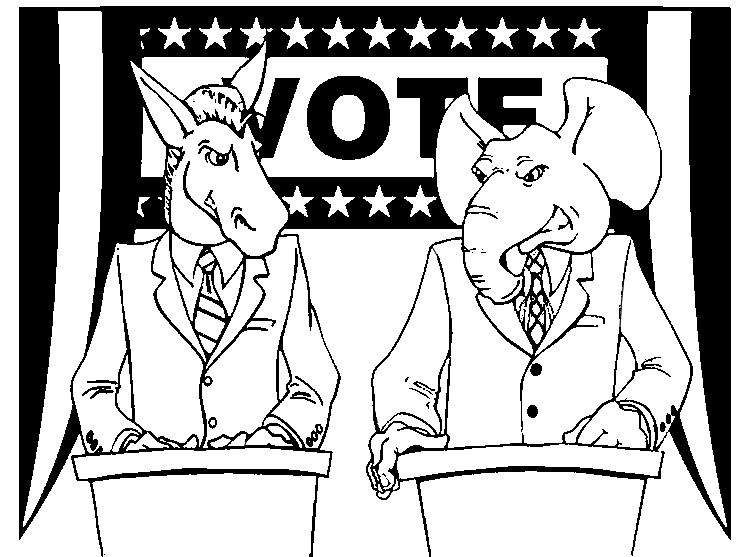 coloring pages election day - photo#11