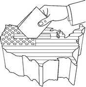 Art Therapy coloring page 2016 United States elections