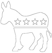 Art Therapy coloring page Donkey Democratic Party Logo