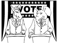 Art Therapy coloring page Democratic Party vs Republican Party
