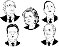 Art Therapy coloring page Democratic candidates