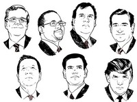 Art Therapy coloring page Republican candidates