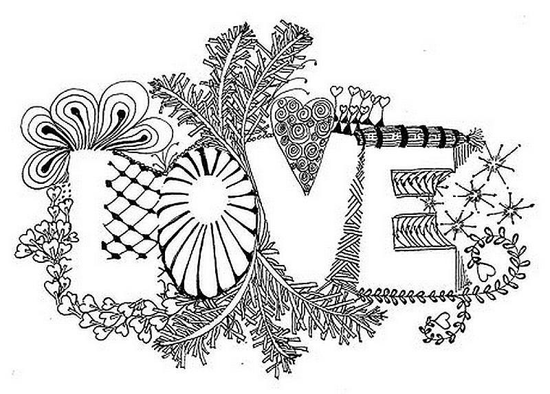 Desenhos Para Colorir Adultos Dia Dos Namorados