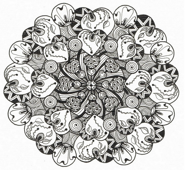 96 Coloring Pages For Adults Hearts