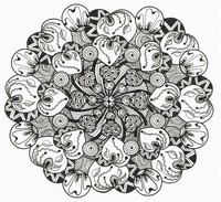 Art Therapy coloring page Mandalas hearts