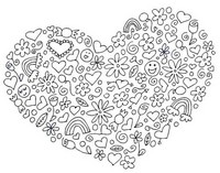 Art Therapy coloring page Heart St Valentine's Day