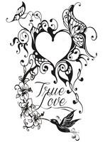 Art Therapy coloring page Tattoo heart