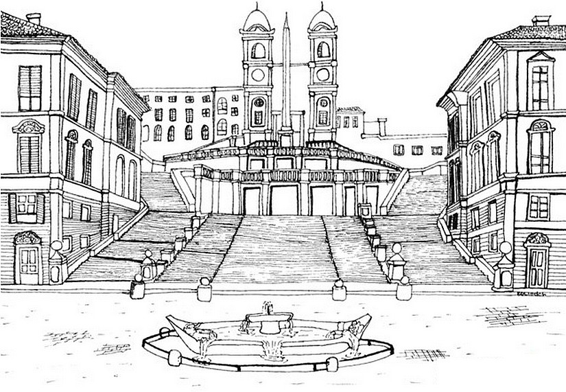 Image Result For Piazza Navona Rome Coloring Page