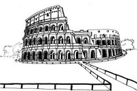 Adult coloring page The Coliseum