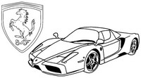 Coloriage anti-stress Ferrari