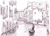 Coloriage anti-stress Venise