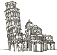 Art Therapy coloring page Leaning Tower of Pisa