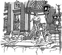 Art Therapy coloring page Fountain of Trevi