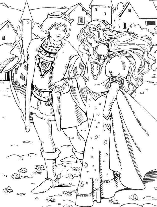 Coloriage Anti Stress Princesses Princesse Au Moyen Age 10