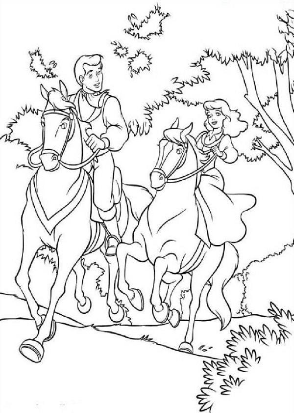 Kleurplaten Prinsessen Met Paard.Anti Stress Kleurplaten Prinsessen Prinses Op Een Paard 12