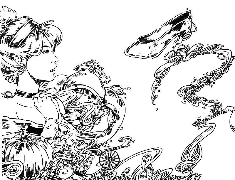 adult coloring page cinderella