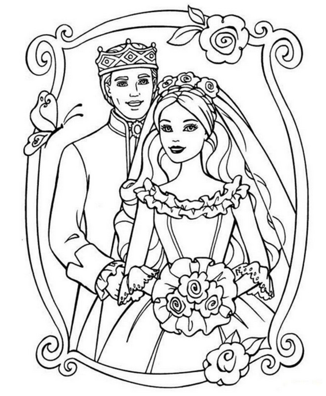 Barbie princess coloring page | 800x659