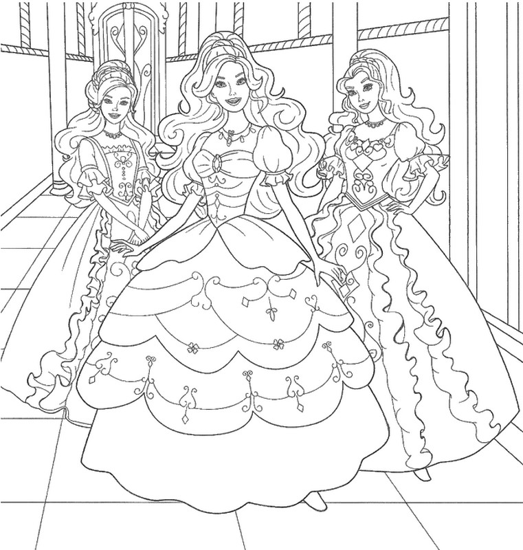 adult coloring page princesses