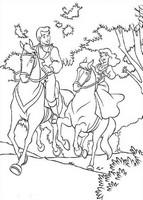Coloriage anti-stress Princesse à cheval