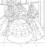 Coloriage anti-stress Princesses