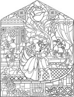 Art Therapy coloring page Stained-glass window