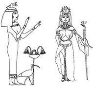 Art Therapy coloring page Egyptian princesses