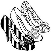 Adult coloring page High heels
