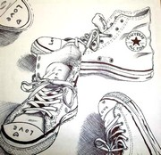 Coloriage anti-stress Chaussures Converse