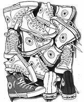 Art Therapy coloring page Converse All Star