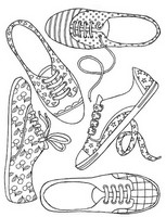 Adult coloring page Girl Shoes