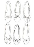 Coloriage anti-stress Ballerines