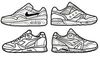 Coloriage anti-stress Nike