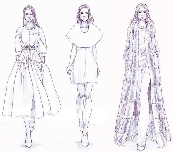 Christian Dior. More Coloring Pages High Fashion: ...