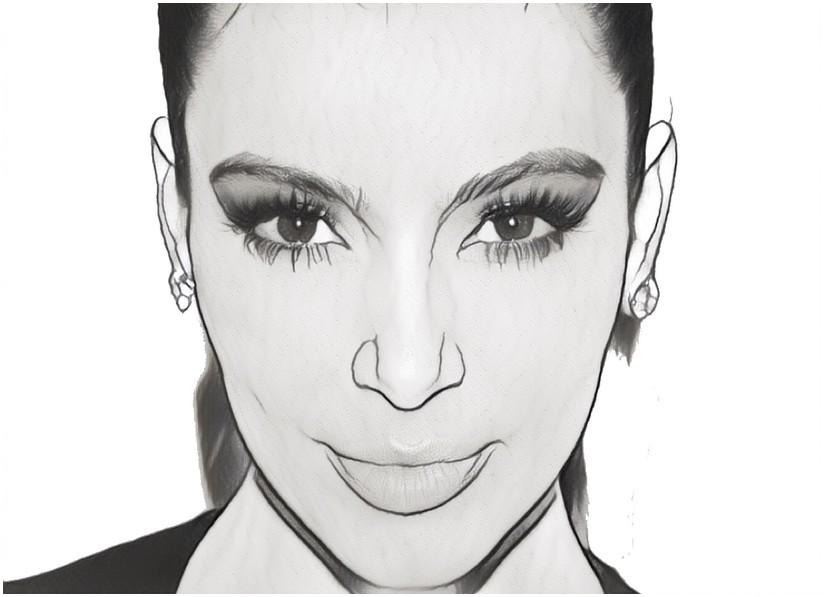 Desenho Para Colorir Anti Stress Kim Kardashian O Rosto De Kim