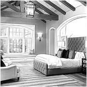 Adult coloring page Bedroom of Kim Kardashian