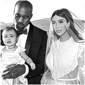 adult coloring page wedding of kim kardashian et kanye west