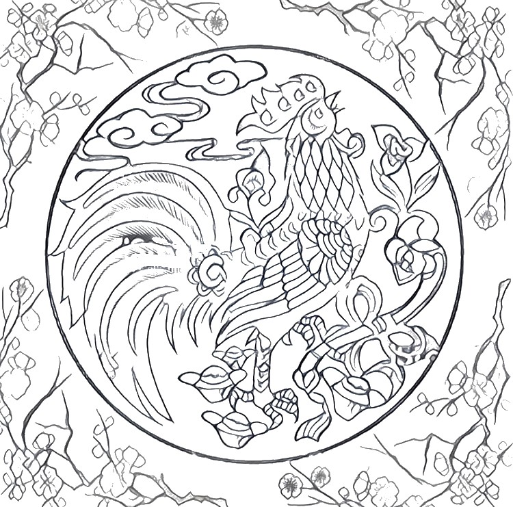Picasso Rooster Coloring Pages