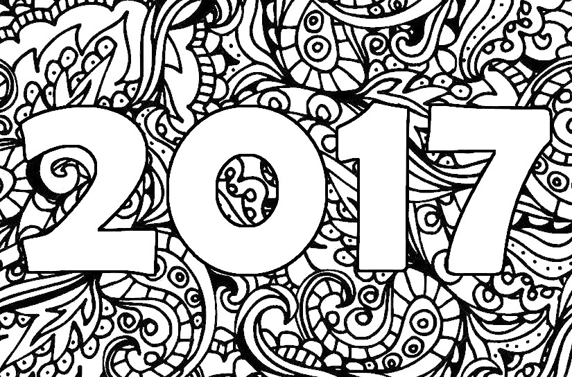 Coloriage Anti Stress Nouvel An 2017 Nouvel An 2017 6