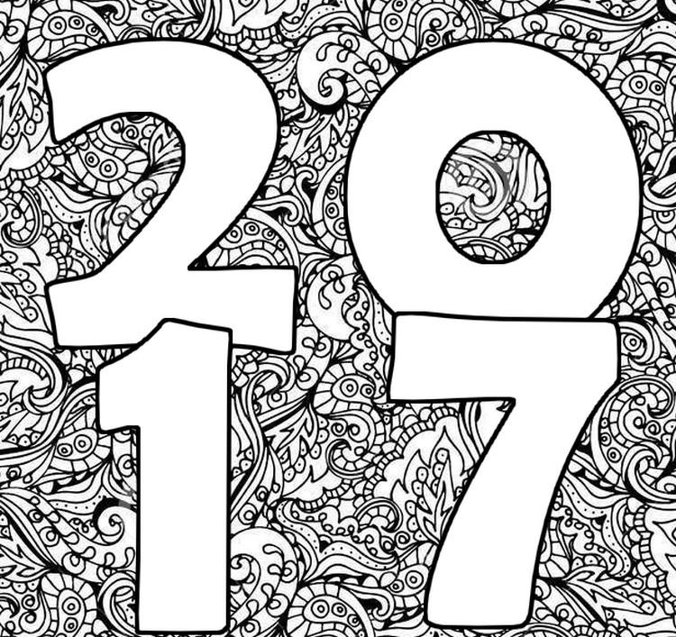 Kleurplaten Gelukkig Nieuwjaar.Kleurplaten Voor Volwassenen Nieuwjaar 2017