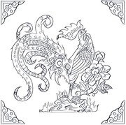 Art Therapy coloring page Year of the Rooster