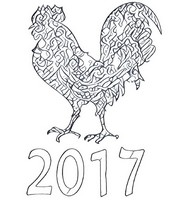 Art Therapy coloring page Chinese New Year 2017